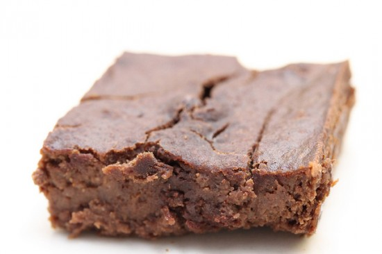 black bean brownie on plate 550x366 Black bean carob brownies save a desperate woman