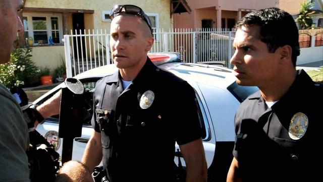 "Jake Gyllenhaal and Michael Peña star in ""End of Watch"""