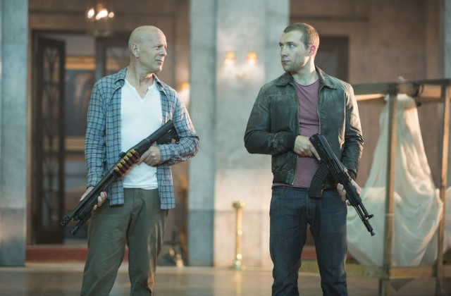"Bruce Willis and Jai Courtney in ""A Good Day to Die Hard"""