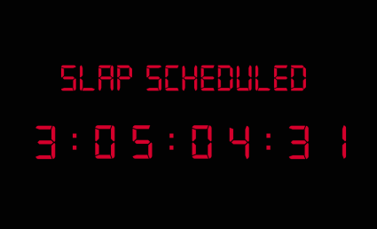 The Slap Bet Countdown   Is it Slap OClock? [Slap Bet Countdown 425x258] (IMAGE)